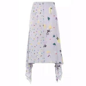 Topshop Boutique Floral Asymetical Hem Skirt